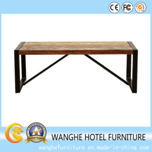 Modern Stainless Steel Rectangle Dining Table and Chair pictures & photos