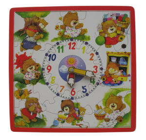 Wooden Puzzle Toy Clock Puzzle pictures & photos