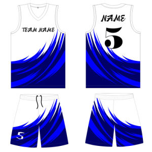 Sublimated Basketball Vest Jersey Shirt for Club pictures & photos