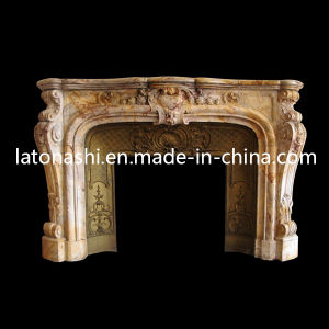 ODM Design Modern Marble Stone Carving Fireplace for Indoor Decorative pictures & photos