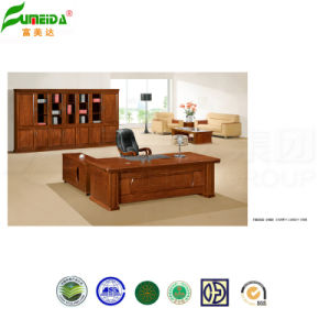 MDF High Quality Wood Veneer Office Desk pictures & photos