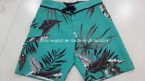 Oeko-Tex Flat Waist Polyester Patterned Men Board Short Swimwear pictures & photos