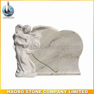 Haobo Marble Gravestone Heart Angel Tombstone pictures & photos