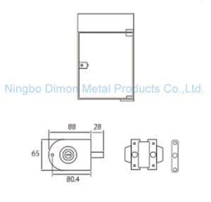 Dimon Sliding Glass Door Lock Single Door Double Cylinder Central Lock (DM-DS 65-1B) pictures & photos