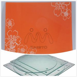 Tailor Made Flat Clear Glass Cutting Board/Plate for Kitchen