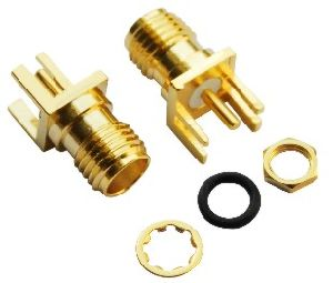 Straight Connector Female Gender PCB Edge Mountable Terminal Electronics RF SMA pictures & photos