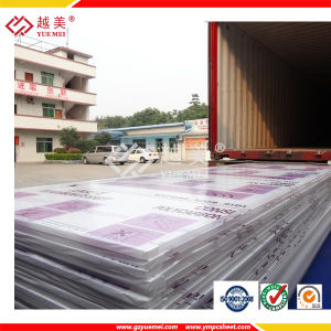 Polycarbonate of Solid Hollow Corrugated Sheet for Building Material Ym-PC-22 pictures & photos