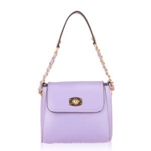 New Purple PU Leather Long Shoulder Strap Sling Bag (XD140055)