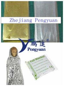 Metalized Pet Film Coated PE for Emergency Picnic Blankets pictures & photos