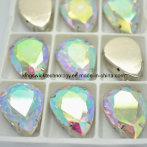 10X14mm Ab Color Sew on Teardrop Crystal Fancy Stones (GSO02) pictures & photos