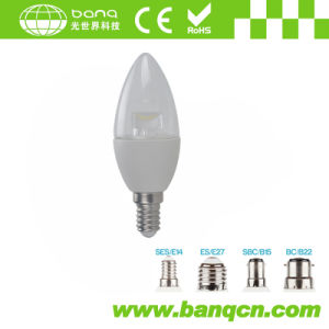 Dimmable 5W E27/E14 LED Candle Bulb for Chandelier Lighting CE RoHS ERP