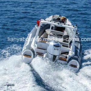 Liya 19ft Inflatable Boat with Engine China Hypalon Rib Boat for Sale pictures & photos
