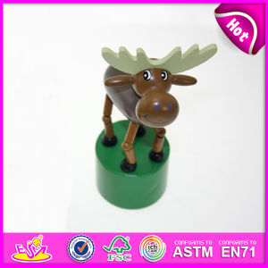 Hot New Product for 2015 Kids Toy Wooden Push Toy, Mini Funny Wooden Toy Children Toy, Colorful Wooden Animal Toy for Baby W06D048 pictures & photos