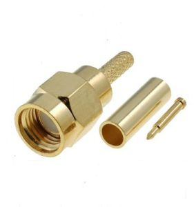 RF SMA Male Plug Connector for Rg174 Rg316 Cable