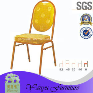 Classcial Fabric Hotel Banquet Metal Chair