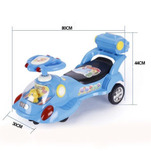 2016 High Quality Music PP Swing Car with Steering Wheel pictures & photos