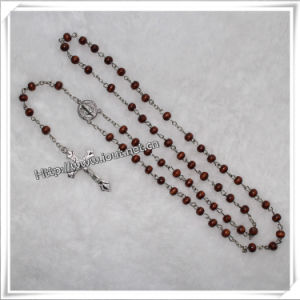 Catholic Wooden Beads Rosary (IO-cr033) pictures & photos