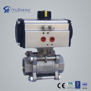 Stainless Steel 3PC Ball Valve with Actuator pictures & photos