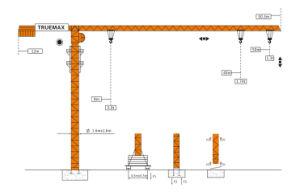 Truemax Tower Crane Hoist Crane (TCP5013) pictures & photos