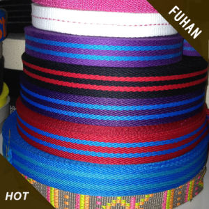 Newest Product Colorful Stripes Polyester Webbing pictures & photos