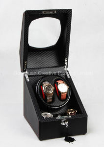 Carbon Fiber Leather Dual Automatic Watch Winder pictures & photos