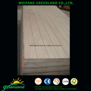 Grooved Plywood with Hardwood Core, Poplar Core, Combi Core and Okume Film pictures & photos