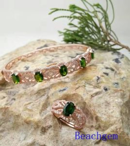 Jewelry Set-Natural Tourmaline in Sterling Silver (S3332) pictures & photos