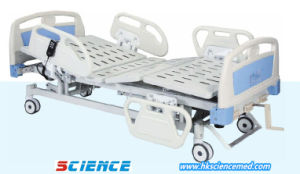 Luxurious Electric and Manual Hospital Bed with Three Functions pictures & photos