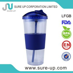 Good Quality Plastic Travel Mug with Straw (MPUT) pictures & photos
