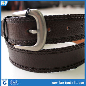 PU Stitched Belts with Plait Edge, Crafted in The Finest Leather, It′s The Belt That Every Wardrobe Needs Now and Forever (35-13098)