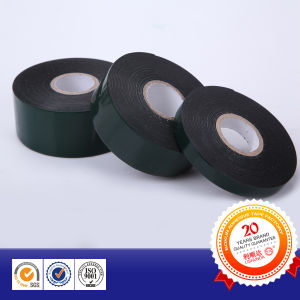 Green Silicon Paper Black Automotive Double Side Foam Tape pictures & photos