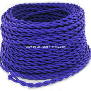 Purple Cloth Covered Twisted Cord (BYW-8001) pictures & photos