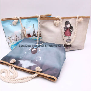 Single-Sided Printing Mini Girl Bag (the back of the bar canvas) pictures & photos