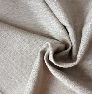 Linen Viscose Heavy Fabric with Slubs pictures & photos