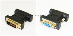 VGA Female to DVI Male (24+1) Gold Plated Adapter
