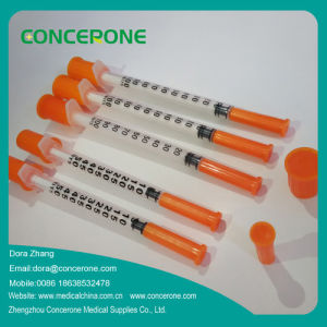 Sterile Disposable Insulin Syringes with Fixed Needles pictures & photos