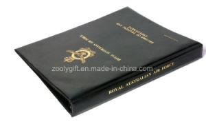 Gold Stamping Black PVC 4-D Ring Binder File Folder with Inner Pocket pictures & photos