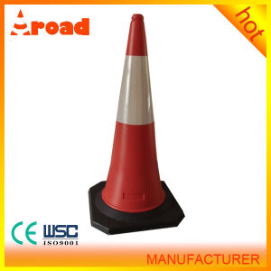1m Plastic Crepe Traffic Cone with Rubber Base pictures & photos