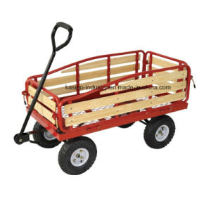Garden Wooden Mesh Trolley/Wagon Cart (TC4211A) pictures & photos