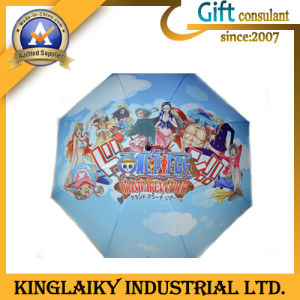 Coloful Printed Advertising Umbrella for Gift (KU-008) pictures & photos