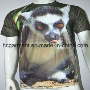 3D Printed Sublimation Round Neck Printed T- Shirt for Man pictures & photos