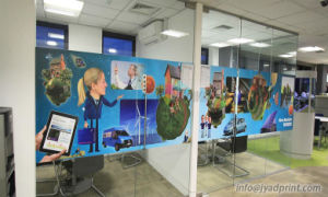 Indoor Digital Printing Company Office Glass/Window Wall Self-Adheaive Sticker pictures & photos