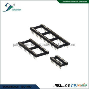 IC Socket Pitch 1.778mm Round Pin L7.4mm 180deg Straight Type with Bar pictures & photos