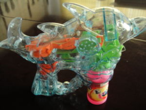 Electric Dolphin Bubble Gun with Light