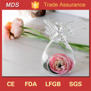 Clear High Quality Handblown Glass Angel Vase for Home Decoration pictures & photos