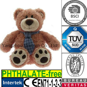 CE Soft Stuffed Animal with Tie Plush Toy Teddy Bear