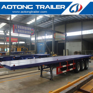 40FT Skeleton Trailer 3 Axle Flatbed Semi Trailer pictures & photos