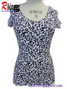 Fashion Ladies Garment of Short Sleeve T Shirt (RKT1306)
