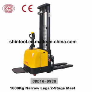 1600kg Electric Pallet Stacker with Low Price (Cdd16-D930) pictures & photos