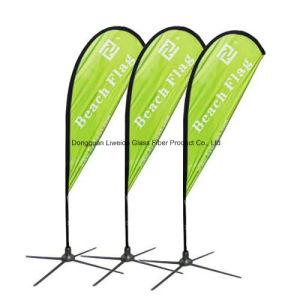 Light Weight FRP/Fiberglass Beach Flag Pole, Advertising Flag Pole